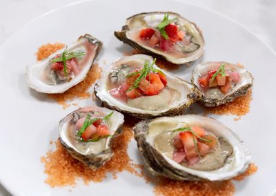 Blue Point Oysters & Strawberry Mignonette