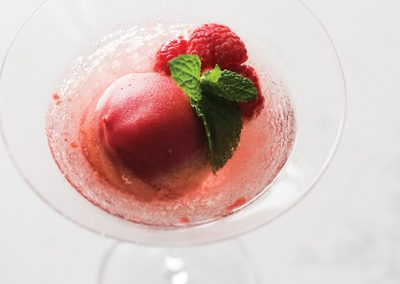 Raspberry & Prosecco Sorbet Float